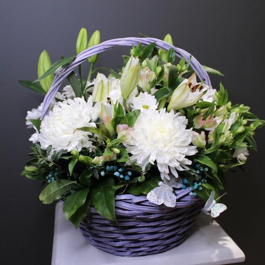 Корзина из цветов