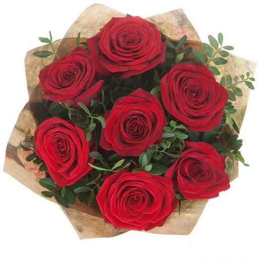 Алая роза: букеты цветов на заказ Flowwow