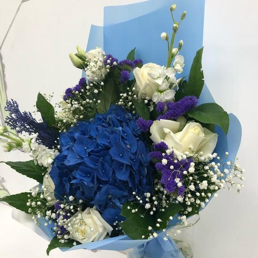 Букет Гортензия Синяя: букеты цветов на заказ Flowwow