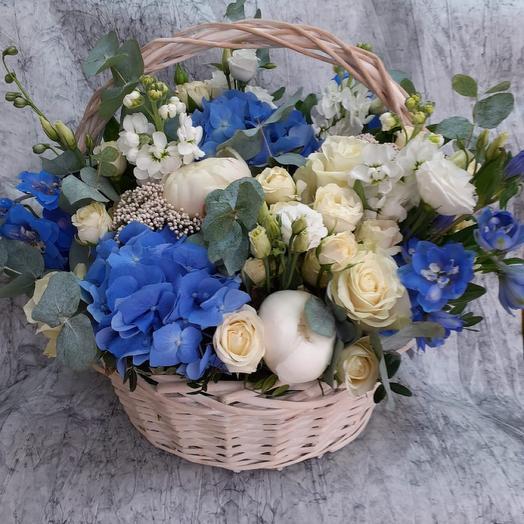 Корзина Морская сказка: букеты цветов на заказ Flowwow