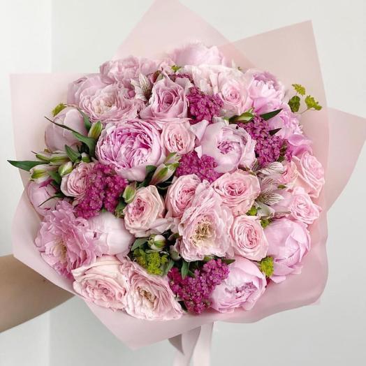 """Букет цветов """"розвая роза"""""""