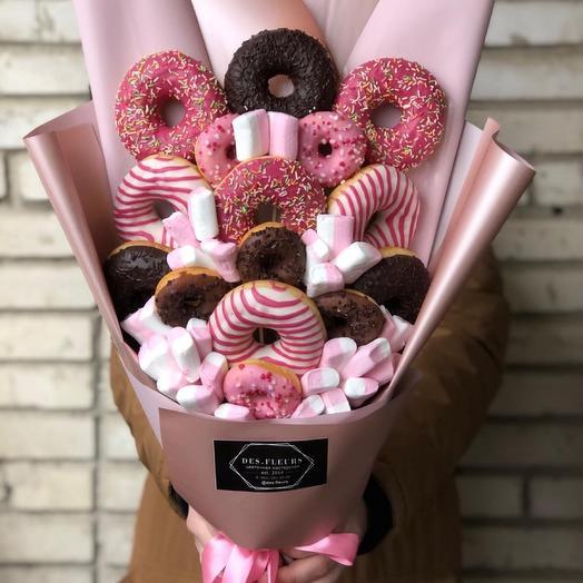 Edible donut bouquet