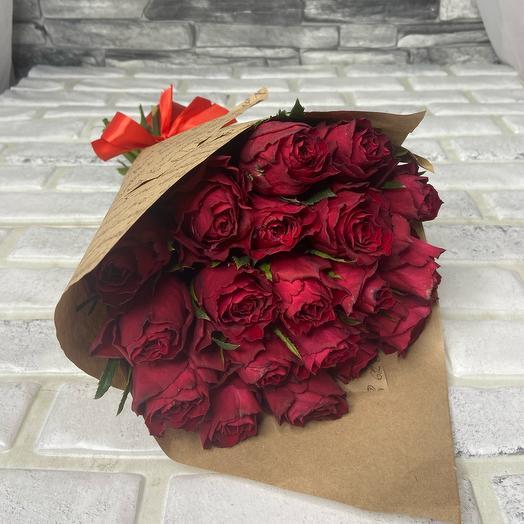 Моно букет из 19 роз