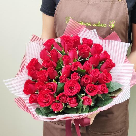41 красная роза кения