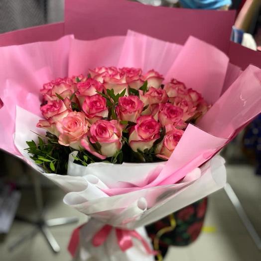 Букет «Розовый закат»
