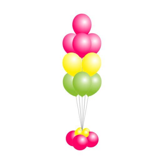 Фонтан из 10 шаров с декоративным основанием
