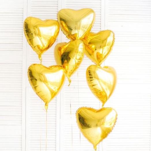 Набор шаров 7 штук «Золотое сердце»