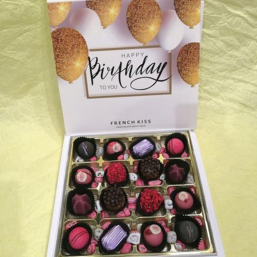 Набор конфет ручной работы FRENCH KISS SPB 10/2 С днем рожденья 2