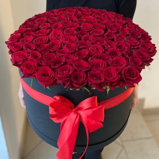 Коробка красных роз(XXL