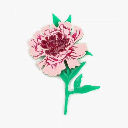 Брошь цветок пиона