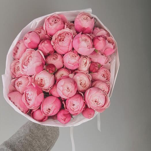 Букет из пионовидной розы сильва