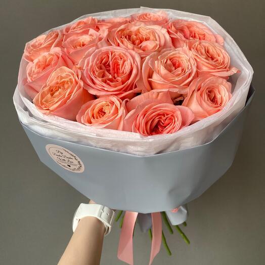 Розы пионовидные «Лондон Ай» 15 шт