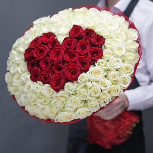 Букет цветов «Мое сердце»