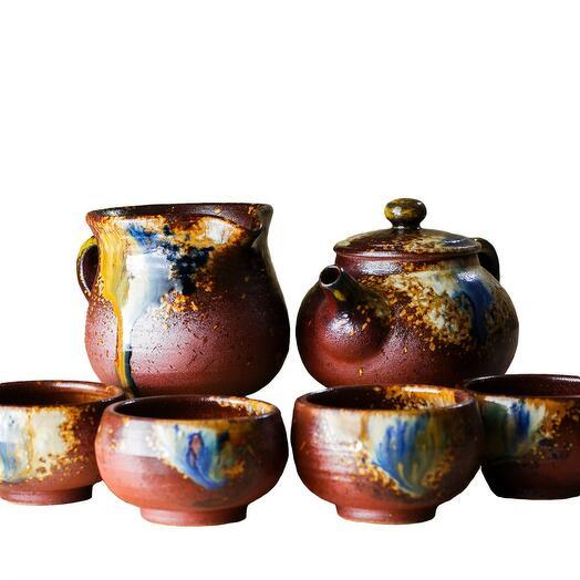 чайный набор, глина с обливной глазурью, ручная работа, Тайвань 1 шт