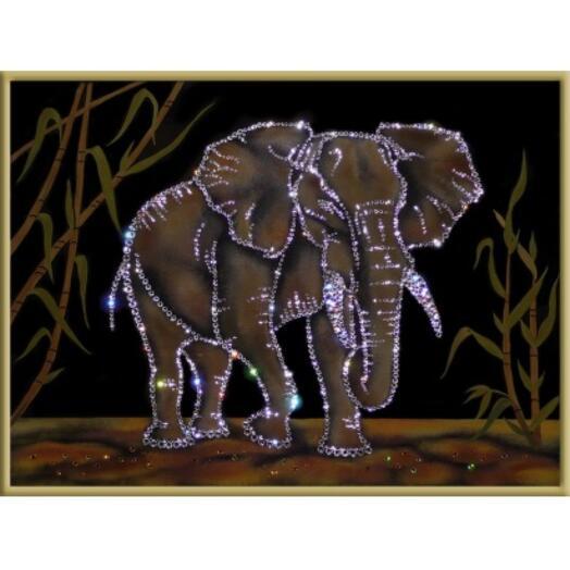 "Картина с кристаллами Swarovski ""Таиландский слон"""