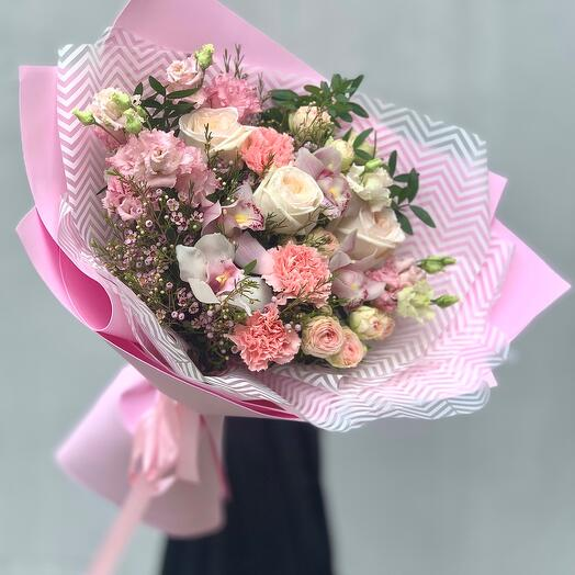 """Bouquet with taste"" L pink"