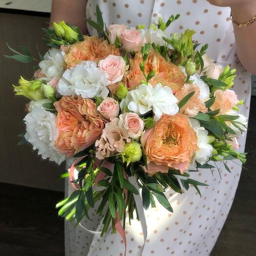 """Bridal bouquet """"Peach"""""""