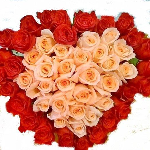 Букет Любяшее сердце: букеты цветов на заказ Flowwow