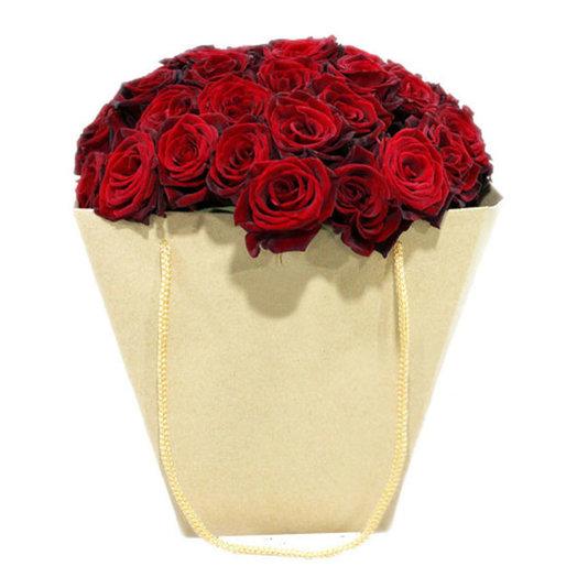 Букет из роз Черная магия: букеты цветов на заказ Flowwow
