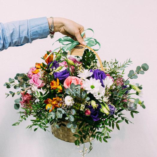 "Корзинка ""Бинглс"": букеты цветов на заказ Flowwow"