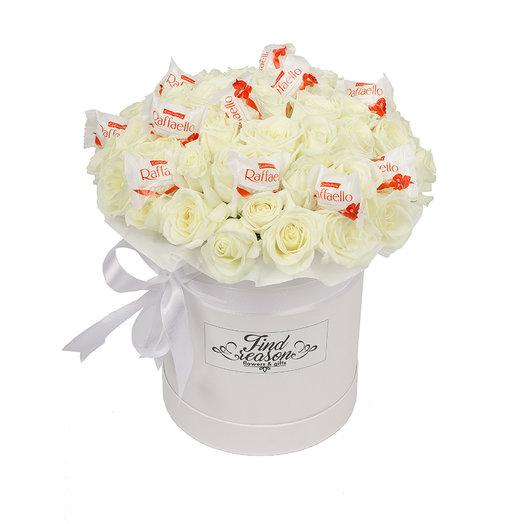 "Шляпная коробка ""Сладкие объятия"": букеты цветов на заказ Flowwow"