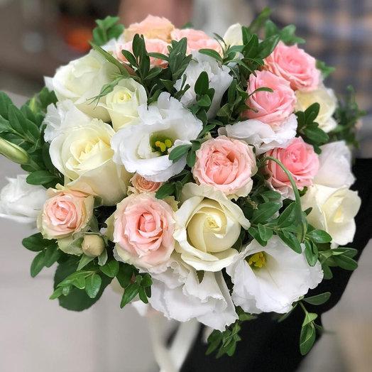 """Свадебный букет """"Цветочный рай"""""""