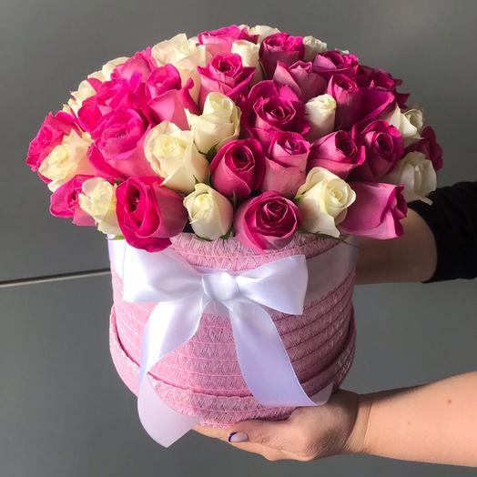 Коробка из 39-ти роз