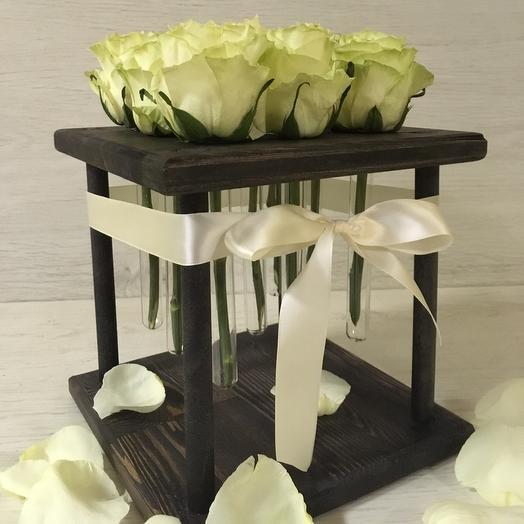 Белый квадрат: букеты цветов на заказ Flowwow