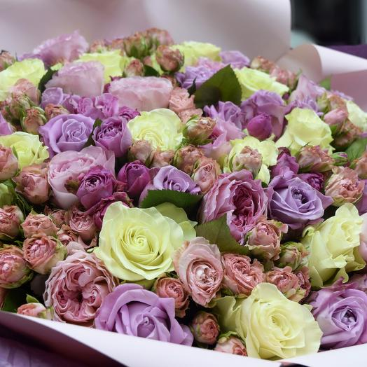 Роскошный букет из роз: букеты цветов на заказ Flowwow