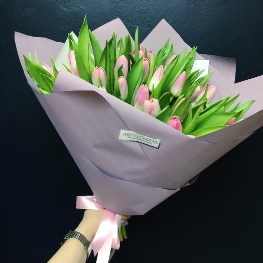 Розовые Тюльпаны: букеты цветов на заказ Flowwow