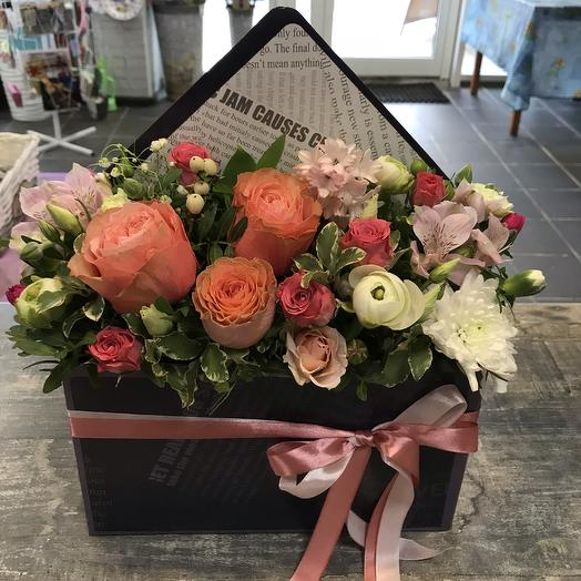 Конверт « яркое настроение»: букеты цветов на заказ Flowwow