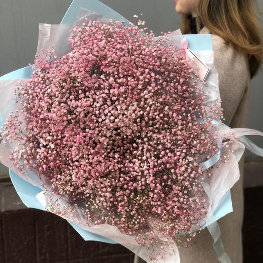 Облако розовой гипсофилы - идеально на выписку девочки из роддома: букеты цветов на заказ Flowwow