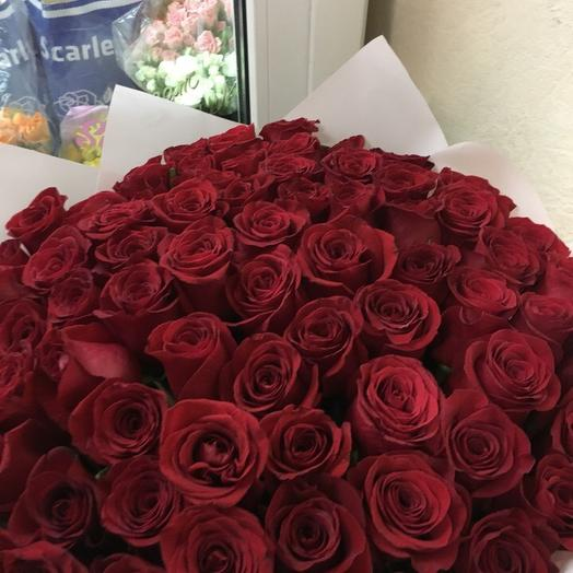 61 роза: букеты цветов на заказ Flowwow