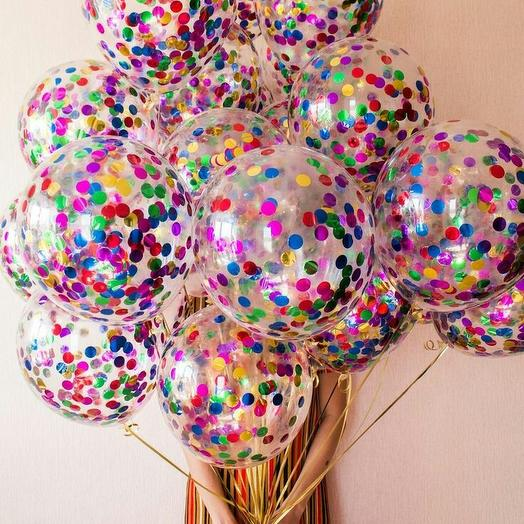 """Букет из воздушных шаров """"Конфетти"""": букеты цветов на заказ Flowwow"""
