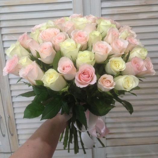 Бело-розовый букет