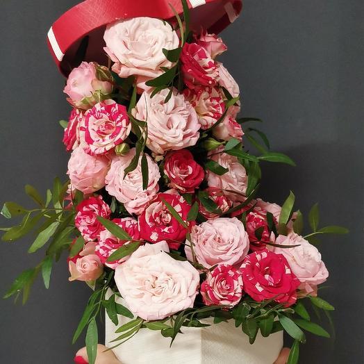 Розовый водопад: букеты цветов на заказ Flowwow