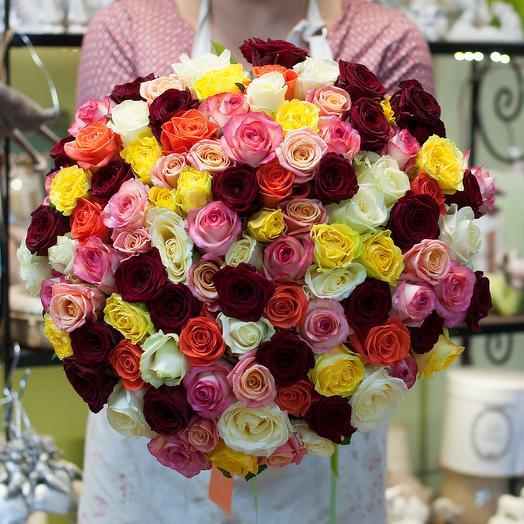 Букет роз (101 роза): букеты цветов на заказ Flowwow