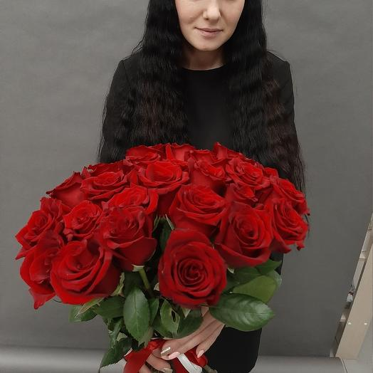 25 роз Эквадор 50 см