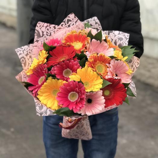 Яркий букет гербер: букеты цветов на заказ Flowwow