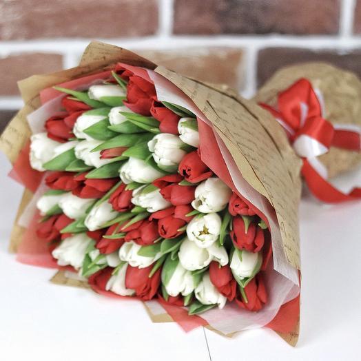 Букет из 49 тюльпанов (микс). N683: букеты цветов на заказ Flowwow