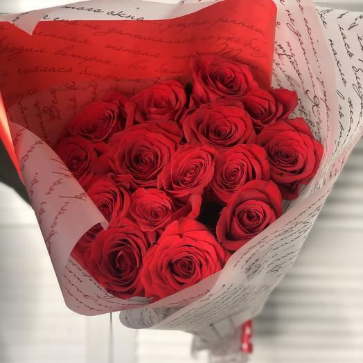 15 красных роз 60 см: букеты цветов на заказ Flowwow