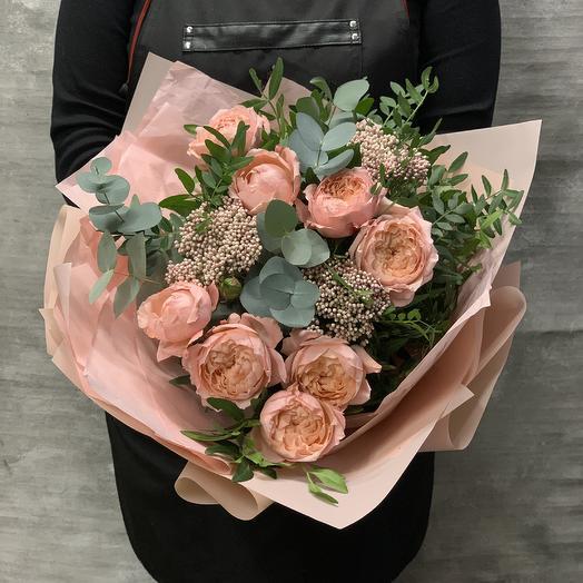 Букет из кустовой розы Джульетта