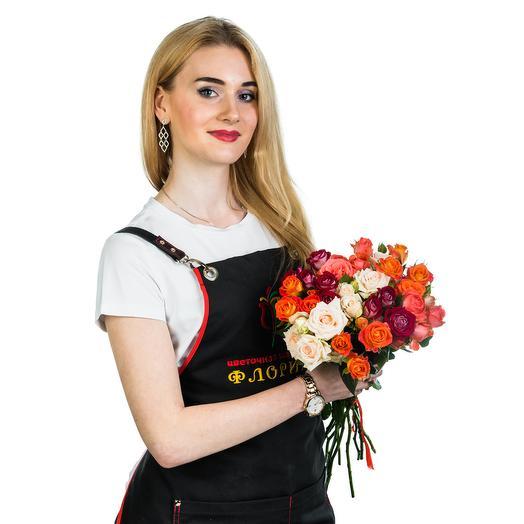 15 кустовых роз МИКС: букеты цветов на заказ Flowwow