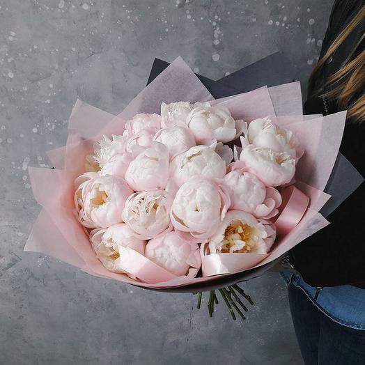 Пион 19 шт: букеты цветов на заказ Flowwow