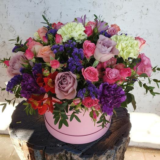 Микс цветов в коробочке