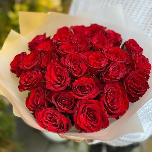 Монобукет из красной розы