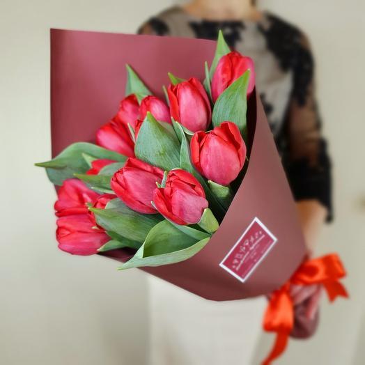Тюльпаны (15) в стильной упаковке
