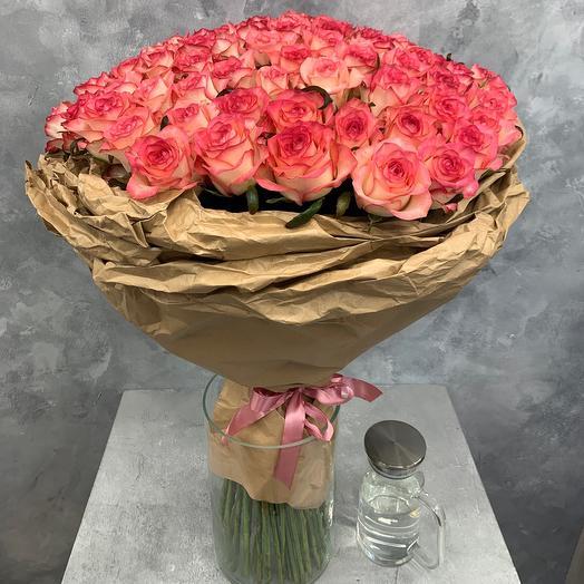 Букет из 101 Розы «Джумилия»
