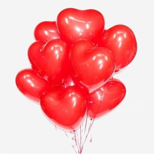"""Набор шаров """"Красные сердечки"""""""