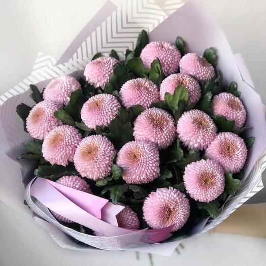 Букет из хризантем Момоко
